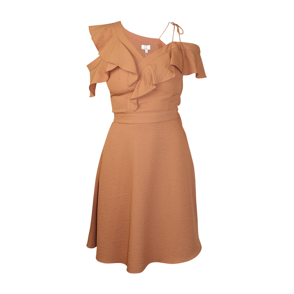 PS The Label Rust Laneway Ruffle Front Dress Size Extra Small Muse Boutique Outlet | Shop Designer Dresses on Sale | Up to 90% Off Designer Fashion