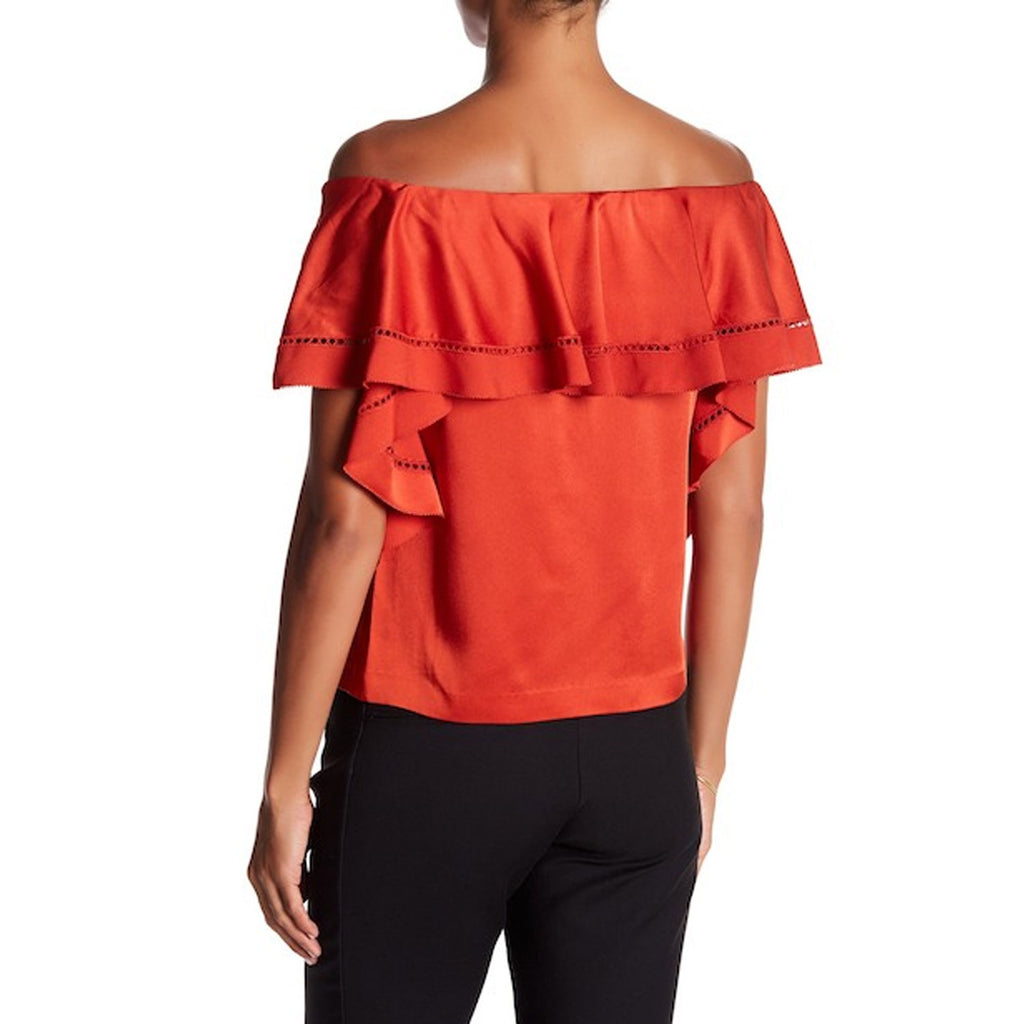 Rachel Zoe  Gaia Off The Shoulder Ruffle Top Size  Muse Boutique Outlet | Shop Designer Clearance Tops on Sale | Up to 90% Off Designer Fashion