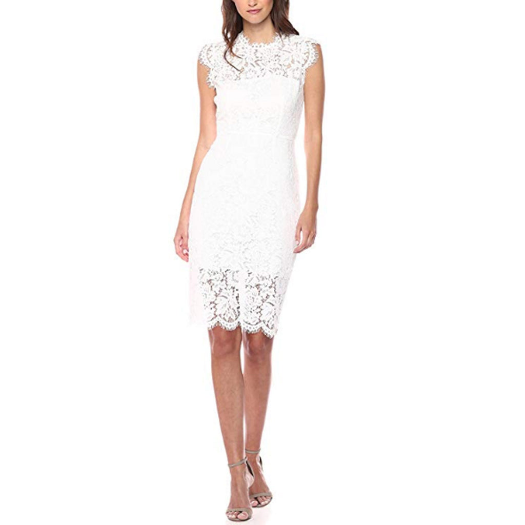 Rachel Zoe White Suzette Lace Sheath Dress Size 10 Muse Boutique Outlet | Shop Designer Dresses on Sale | Up to 90% Off Designer Fashion