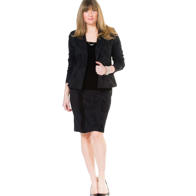 Raffinalla Floral Flock Blazer 8 Black Muse Boutique Outlet | Up to 90% Off Designer Fashion