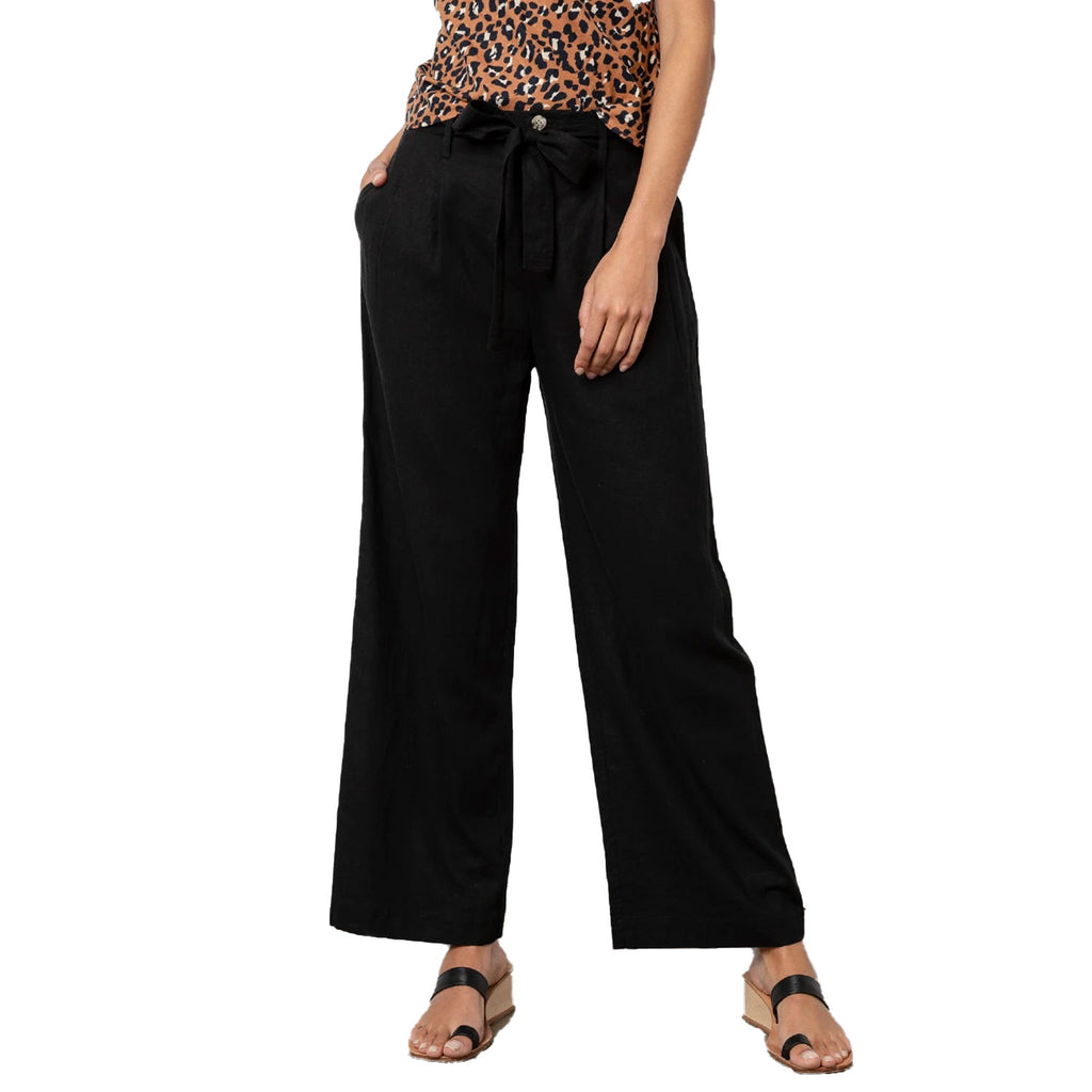 Rails Black Jess Wide leg Linen Pants Size Medium Muse Boutique Outlet | Shop Designer Pant on Sale | Up to 90% Off Designer Fashion