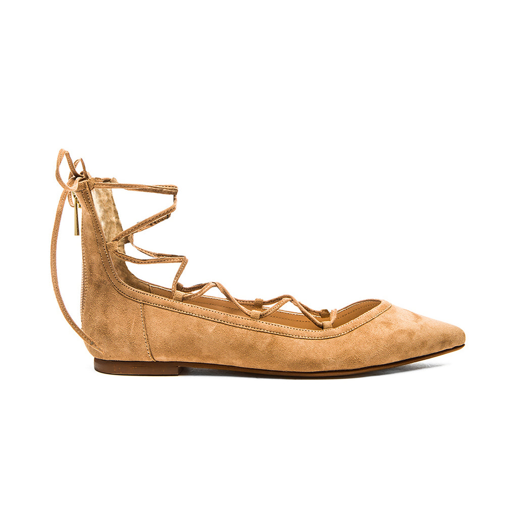 Raye Tan Pippa Flat Size 35.5 Muse Boutique Outlet | Shop Designer Flats on Sale | Up to 90% Off Designer Fashion