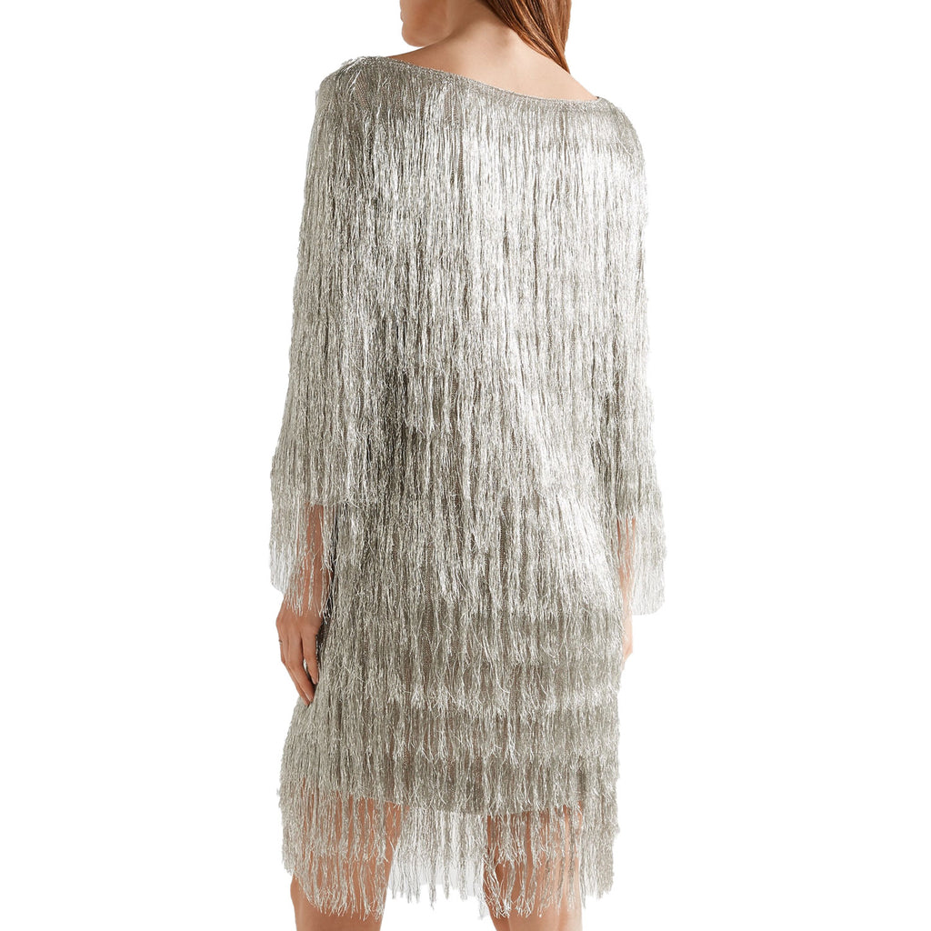 Rachel Zoe  Ballina Metallic Fringe Dress Size  Muse Boutique Outlet | Shop Designer Dresses on Sale | Up to 90% Off Designer Fashion