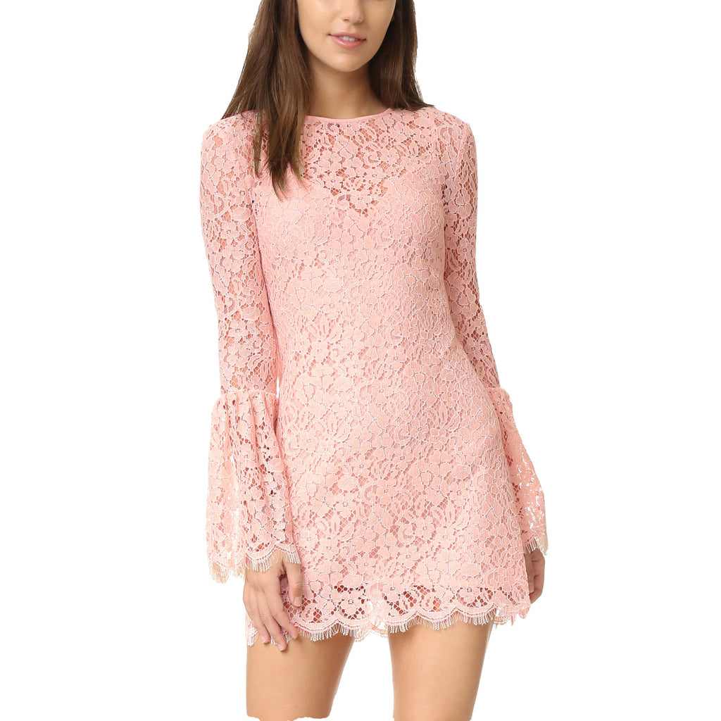 Rachel Zoe Blush Bell Sleeve Lace Dress Size 0 Muse Boutique Outlet | Shop Designer Dresses on Sale | Up to 90% Off Designer Fashion
