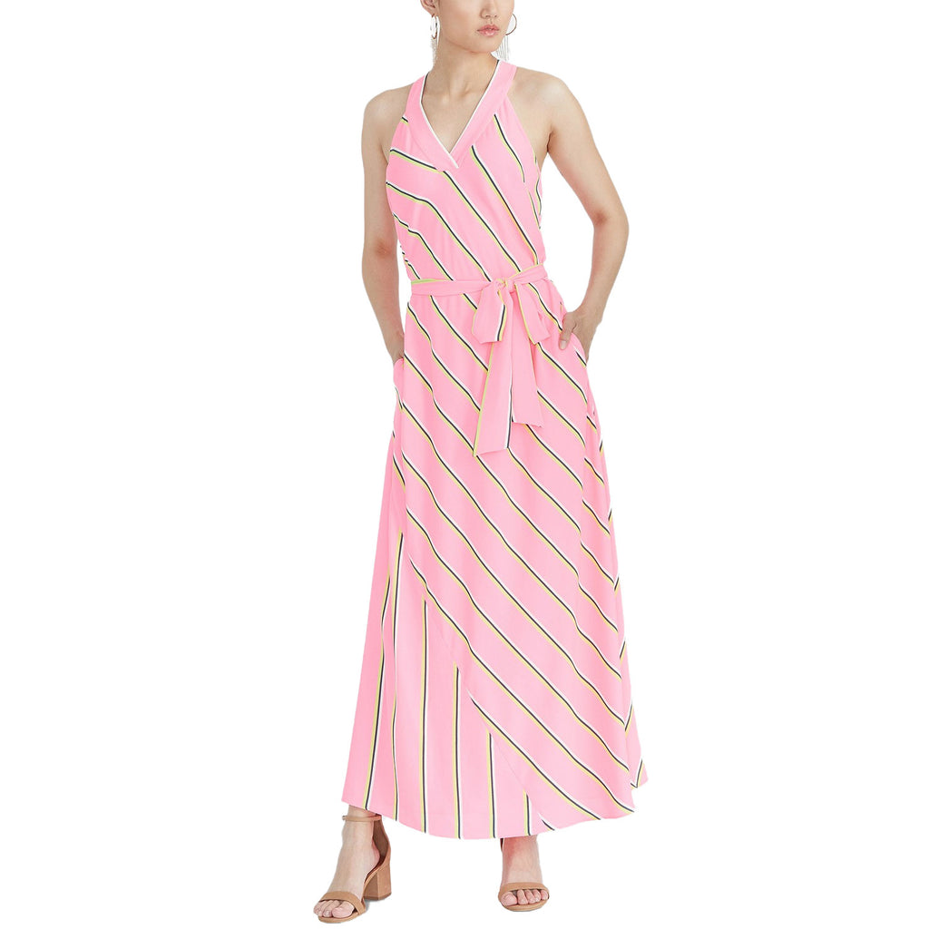 Rachel Roy Pink Combo Jacey Racerback Maxi Dress Size Small Muse Boutique Outlet | Shop Designer Clearance Dresses on Sale | Up to 90% Off Designer Fashion