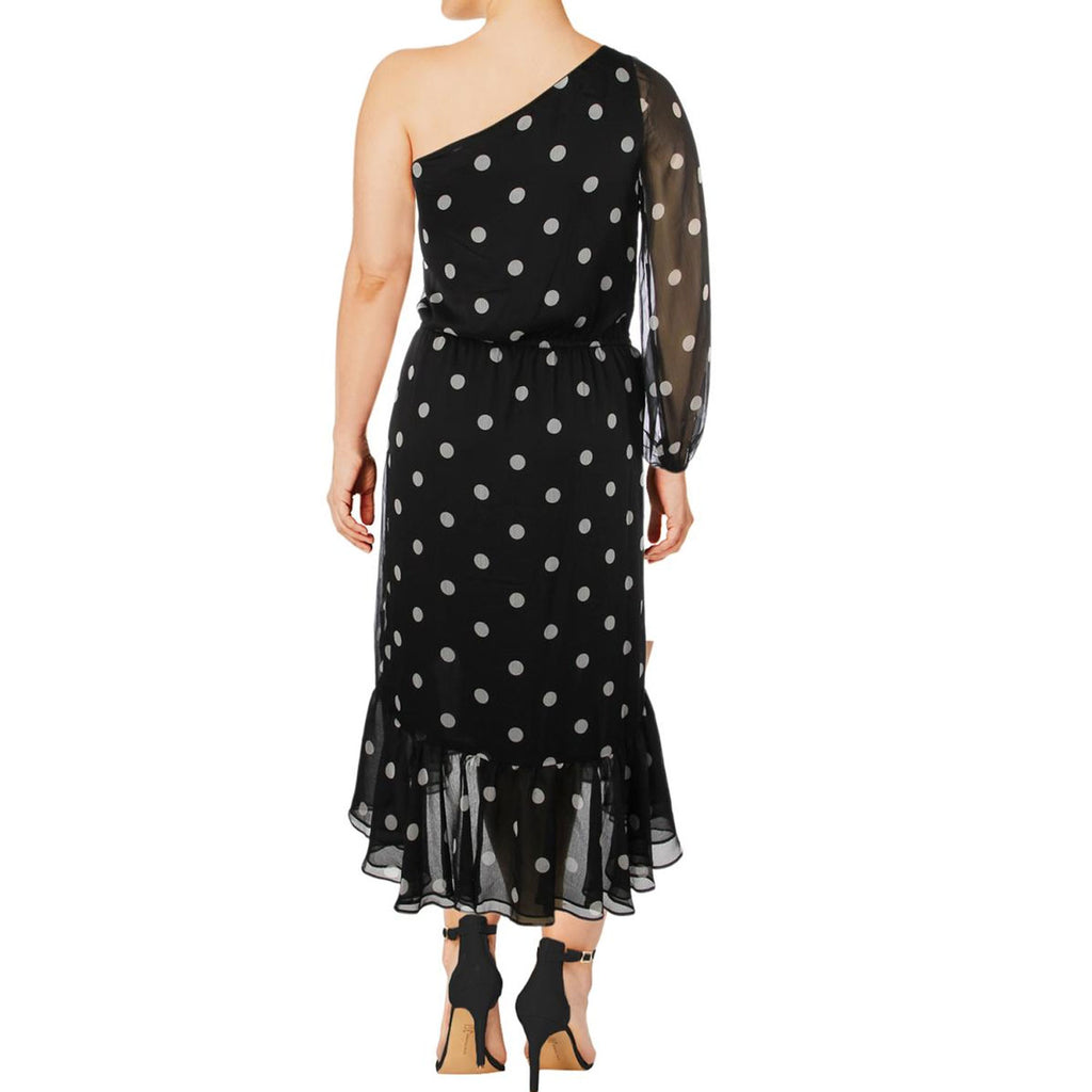 Lauren by Ralph Lauren  One Shoulder Polka Dot Dress Size  Muse Boutique Outlet | Shop Designer Dresses on Sale | Up to 90% Off Designer Fashion