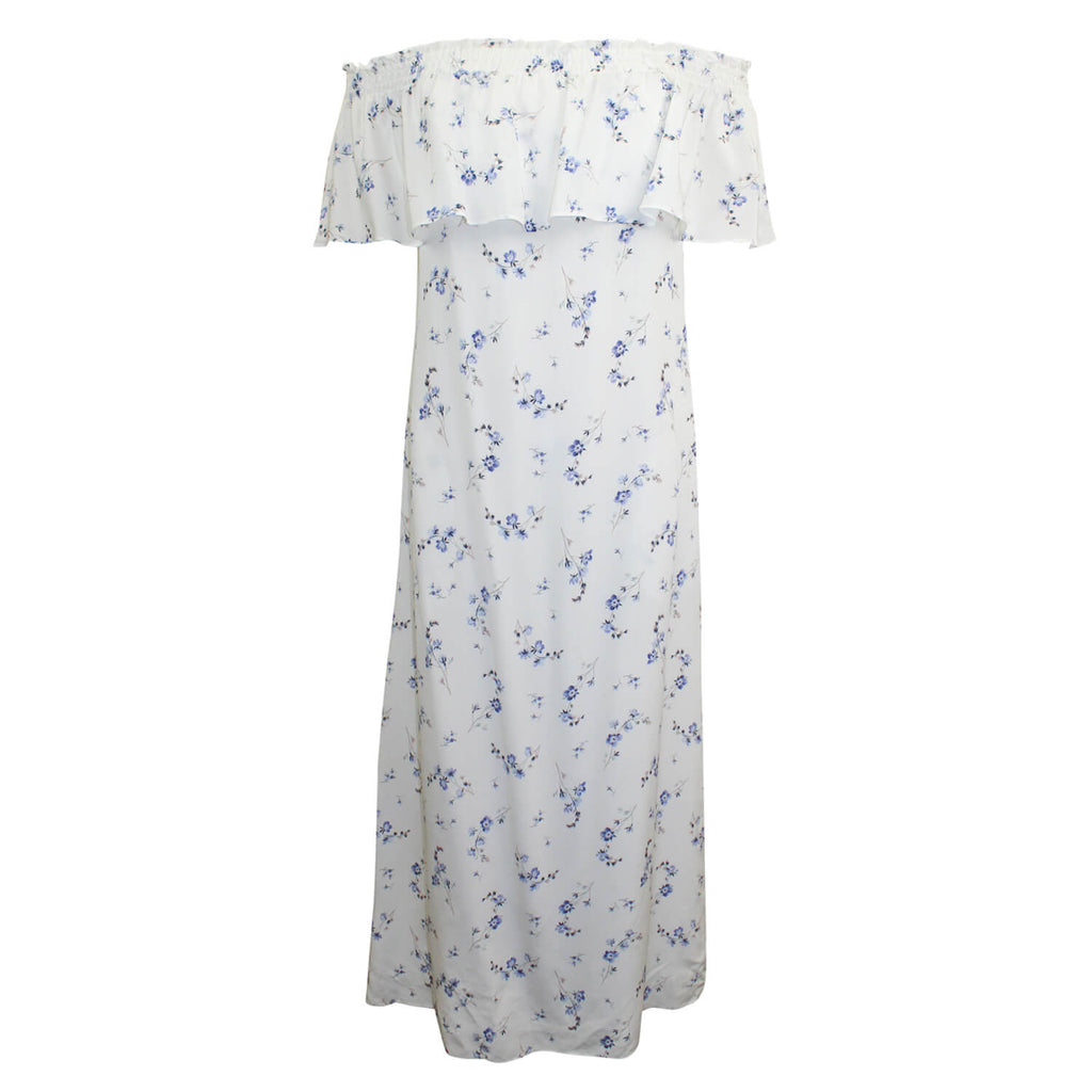 Rebecca Taylor Snow Comb Off the Shoulder Floral Silk Midi Dress Size 4 Muse Boutique Outlet | Shop Designer Clearance Dresses on Sale | Up to 90% Off Designer Fashion