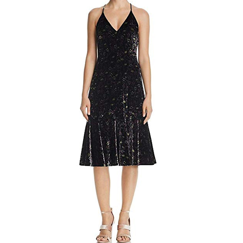 Rebecca Taylor Midnight Bloom Velvet Mid-Calf Slip Dress Size 8 Muse Boutique Outlet | Shop Designer Dresses on Sale | Up to 90% Off Designer Fashion