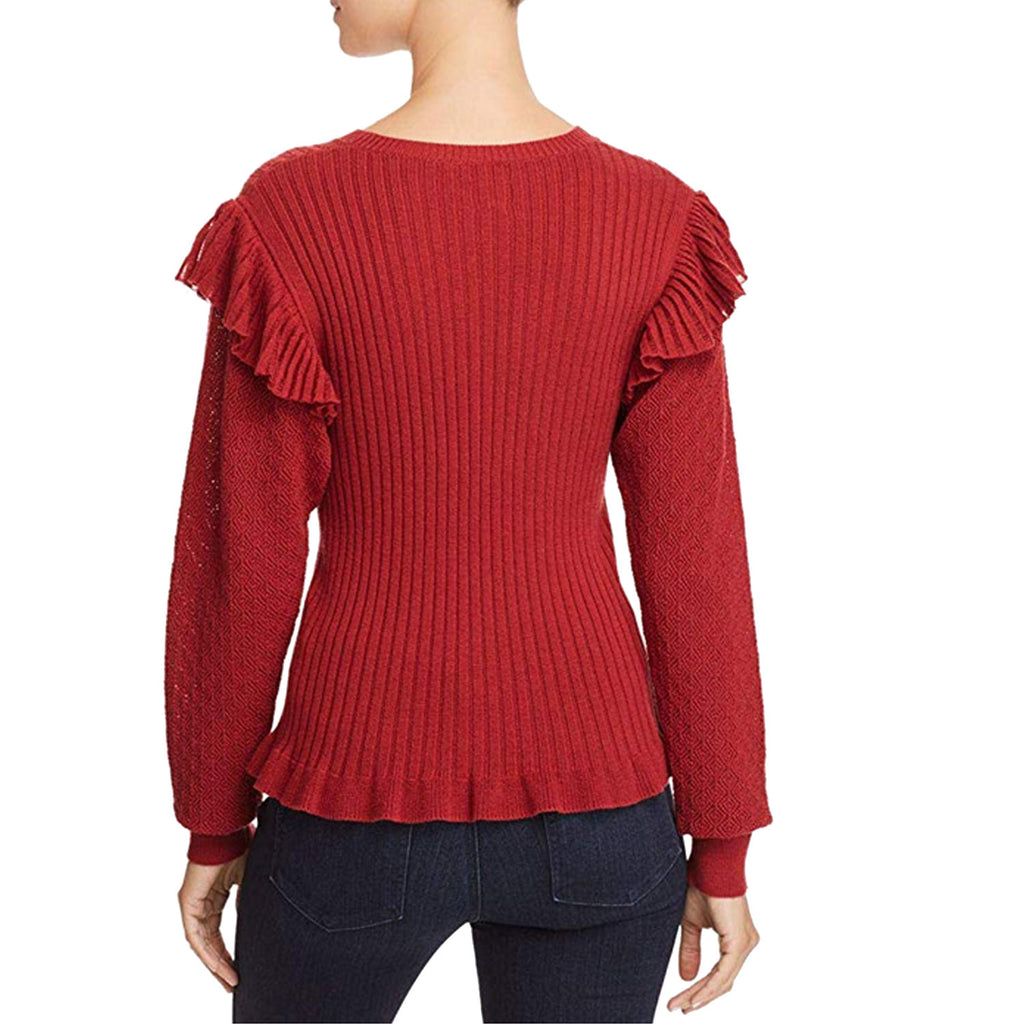 La Vie Rebecca Taylor  Ruffled Cotton Pullover Size  Muse Boutique Outlet | Shop Designer Sweaters on Sale | Up to 90% Off Designer Fashion