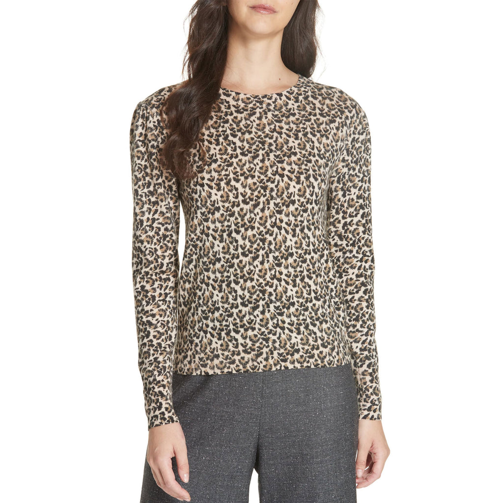 Rebecca Taylor Brown Leopard Pullover Sweater Size Extra Small Muse Boutique Outlet | Shop Designer Crewneck Sweaters on Sale | Up to 90% Off Designer Fashion