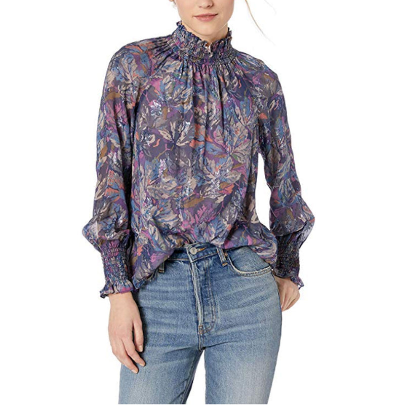 Rebecca Taylor Purple Mock Neck Silk Top Size 00 Muse Boutique Outlet | Shop Designer Blouses on Sale | Up to 90% Off Designer Fashion
