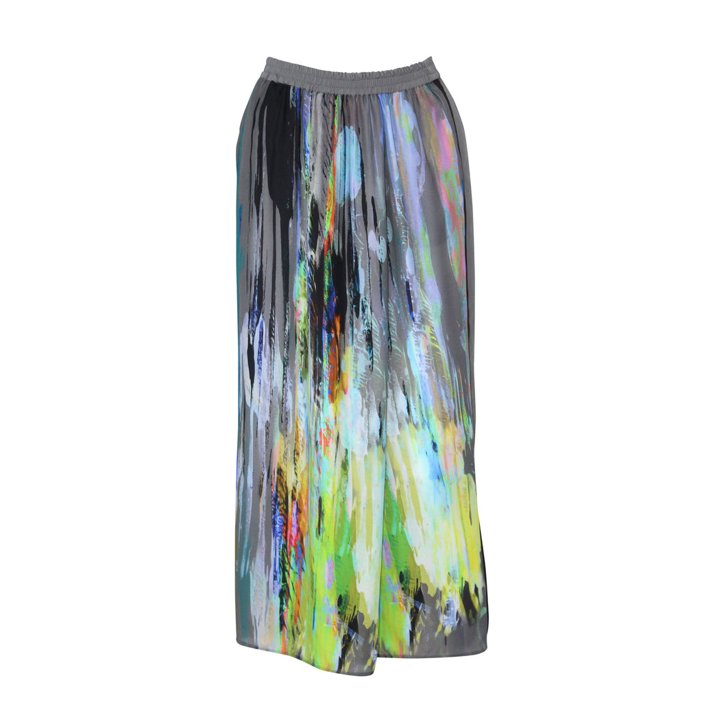 Rene Lezard Multi Printed Silk Maxi Skirt Size 6 Muse Boutique Outlet | Shop Designer Clearance Skirts on Sale | Up to 90% Off Designer Fashion