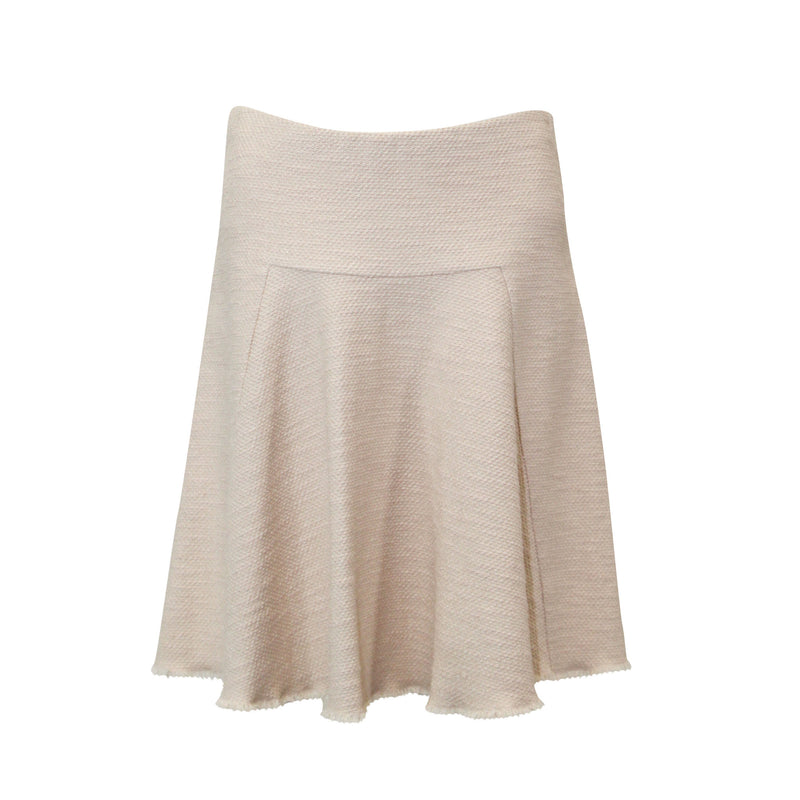 Rene Lezard Powder Textured Flounce Skirt Size 4 Muse Boutique Outlet | Shop Designer Clearance Skirts on Sale | Up to 90% Off Designer Fashion