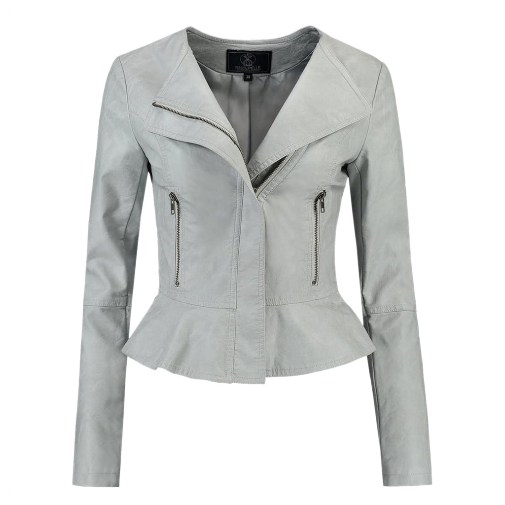 Rino & Pelle Gray Makoa Faux Leather Jacket Size 42 Muse Boutique Outlet | Shop Designer Jackets on Sale | Up to 90% Off Designer Fashion