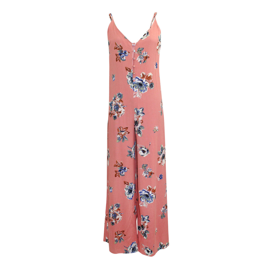Sage The Label Quinn Jumpsuit Extra Small Orange Floral Muse Boutique Outlet