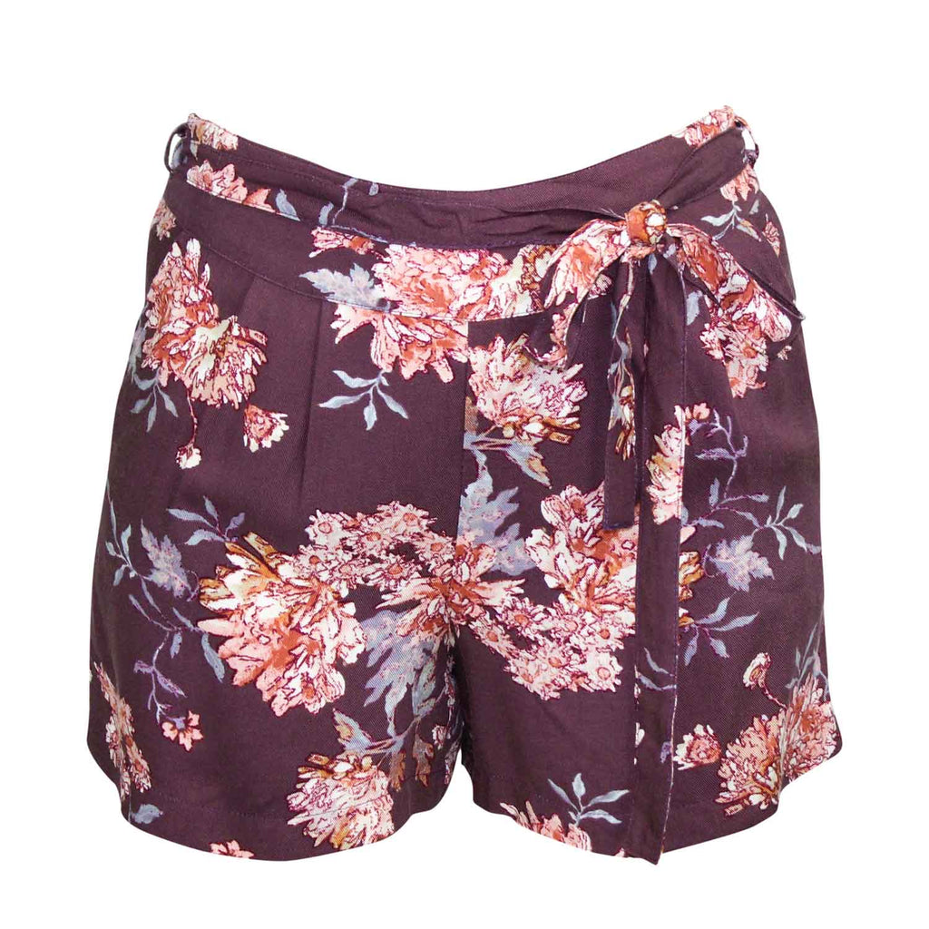 Sage The Label Purple Milena High Waisted Floral Shorts Size Small Muse Boutique Outlet | Shop Designer Clearance Shorts on Sale | Up to 90% Off Designer Fashion