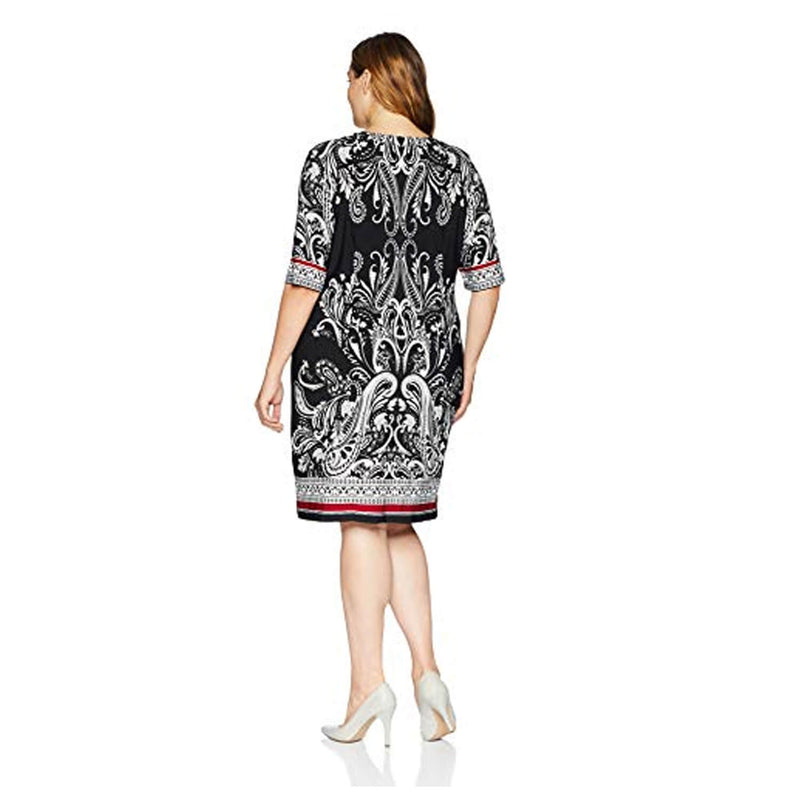 Sandra Darren  Paisley Print Dress Plus Size Size  Muse Boutique Outlet | Shop Designer Plus Size Dresses on Sale | Up to 90% Off Designer Fashion