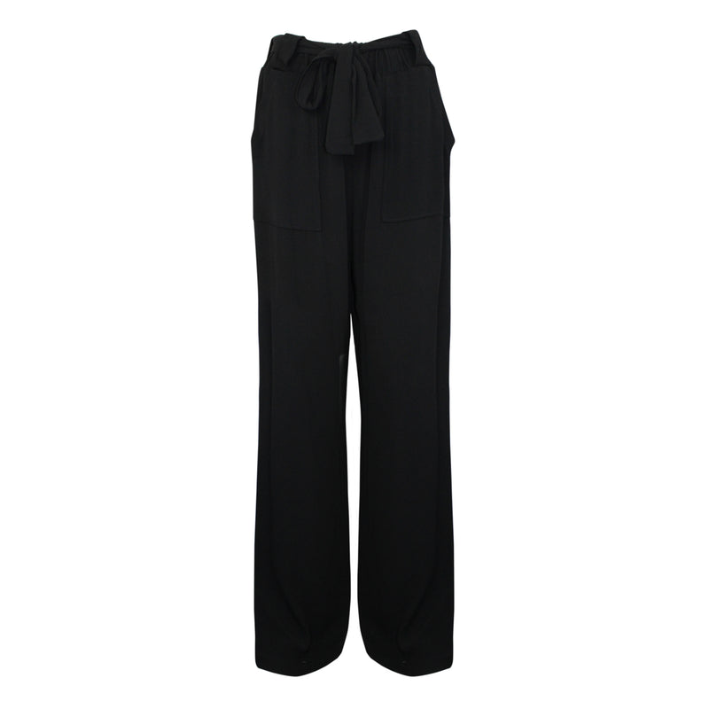 Sen Black Wide Leg Crepe Belted Pants Size Small Muse Boutique Outlet | Shop Designer Pant on Sale | Up to 90% Off Designer Fashion