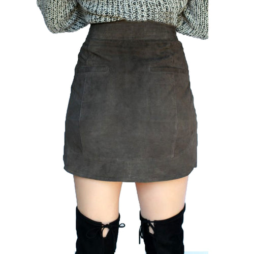 Sen Nerino Suede Skirt   Muse Boutique Outlet