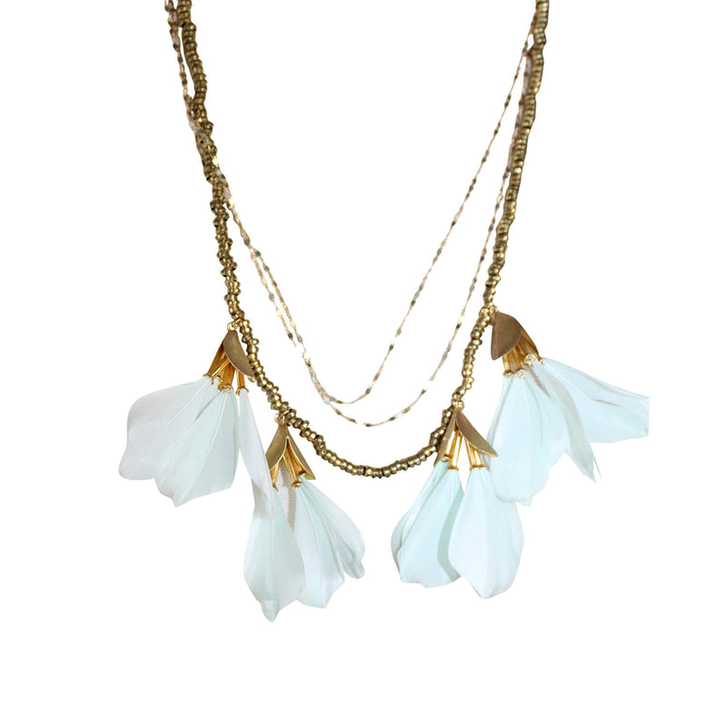 Serefina  Dancing Feather Necklace Size  Muse Boutique Outlet | Shop Designer Necklaces on Sale | Up to 90% Off Designer Fashion