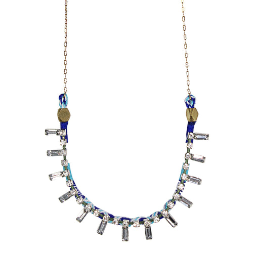 Serefina Jeweled Delicate Necklace OS Blue Muse Boutique Outlet