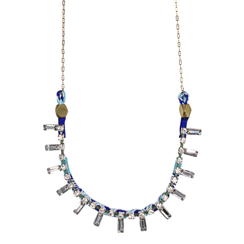 Serefina Blue Jeweled Delicate Necklace Size OS Muse Boutique Outlet | Shop Designer Clearance Jewelry on Sale | Up to 90% Off Designer Fashion