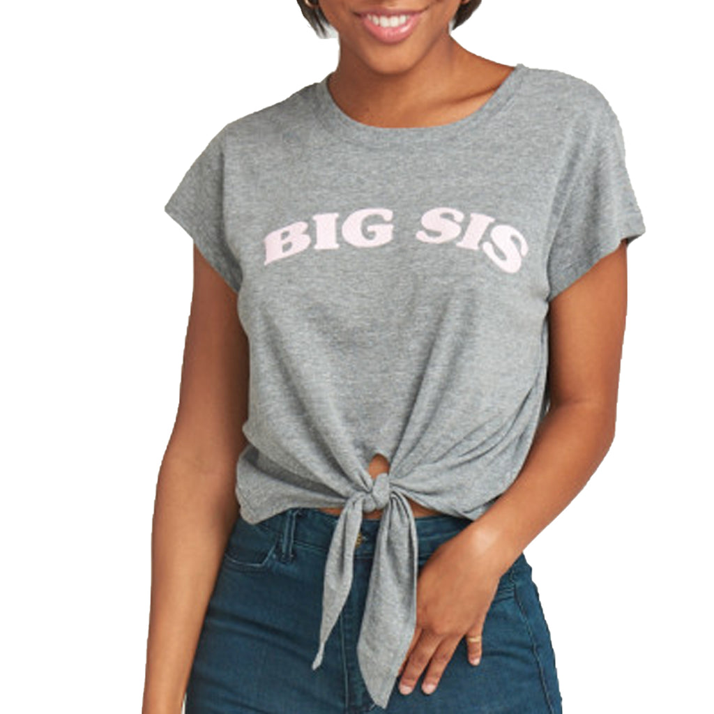 Show Me Your Mumu Grey Big Sis Harley Tee Size Medium Muse Boutique Outlet | Shop Designer Clearance Tops on Sale | Up to 90% Off Designer Fashion