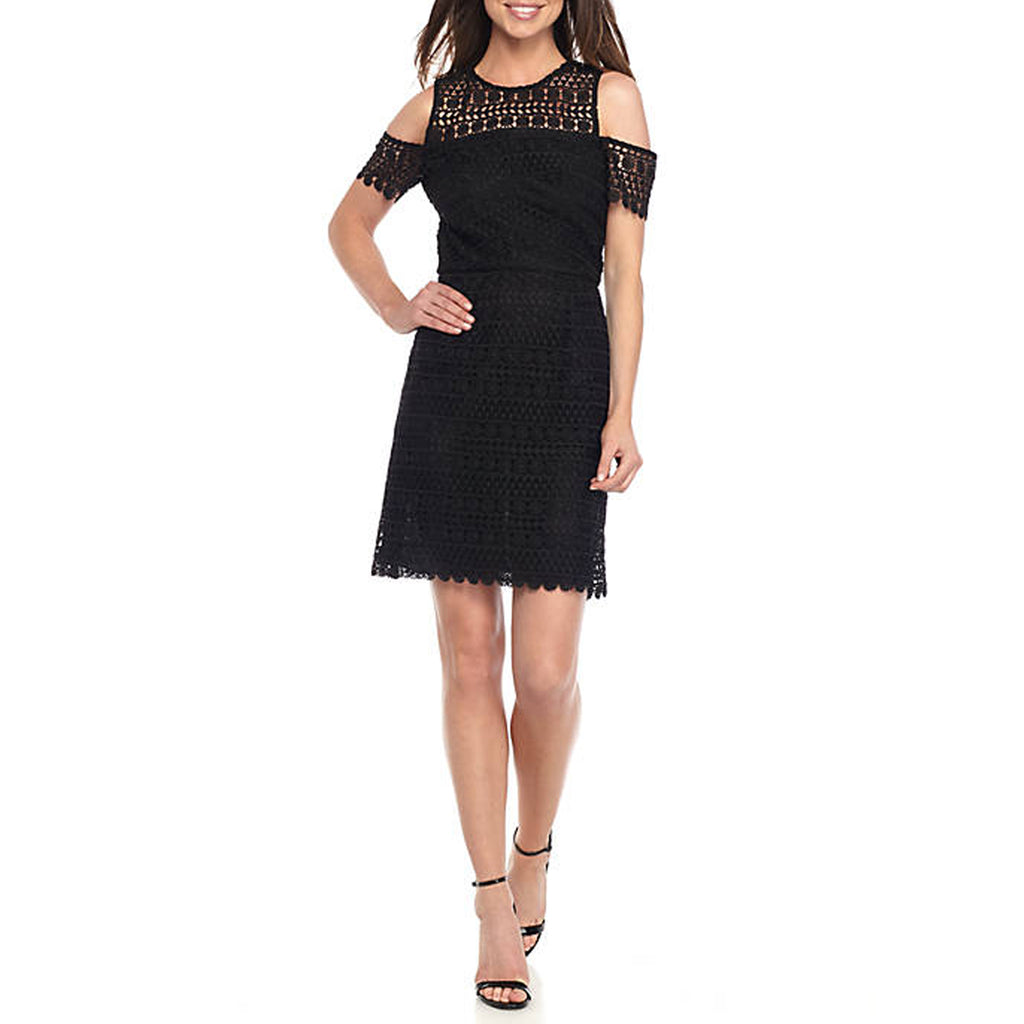 Shoshanna Black Memphis Cold Shoulder Lace Dress Size 6 Muse Boutique Outlet | Shop Designer Clearance Dresses on Sale | Up to 90% Off Designer Fashion