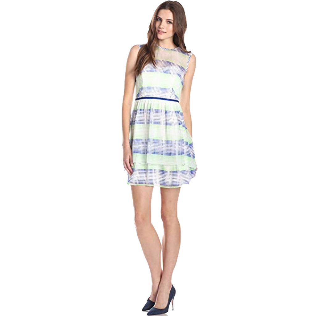 Shoshanna Blue/Mutli Jessica Neon Stripe Dress Size 4 Muse Boutique Outlet | Shop Designer Dresses on Sale | Up to 90% Off Designer Fashion