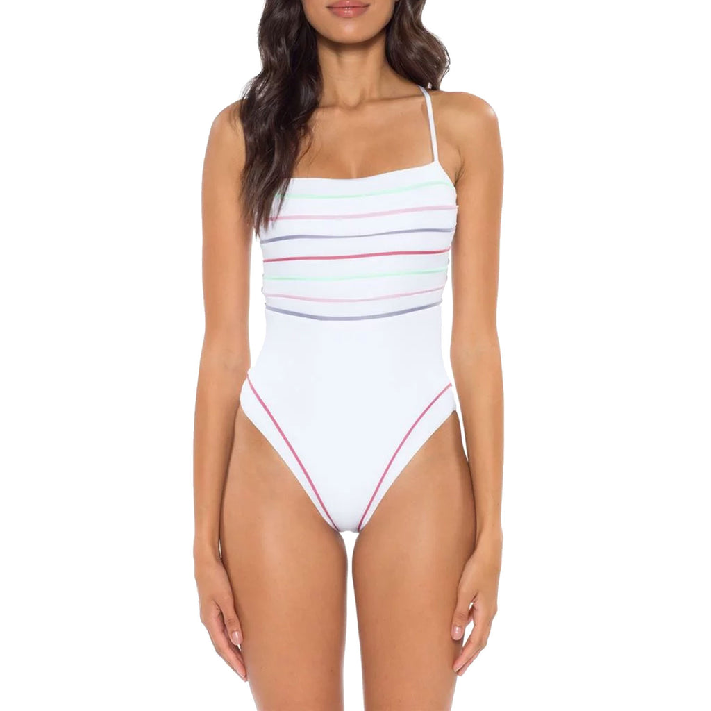 Soluna Swim White Total Eclipse One Piece Swimsuit Size Small Muse Boutique Outlet | Shop Designer Swimwear on Sale | Up to 90% Off Designer Fashion