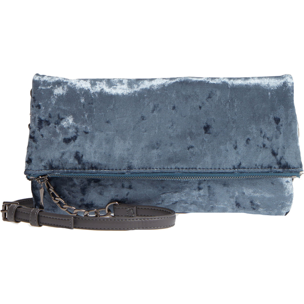 Sole Society Slate Zen Velvet Foldover Clutch Size One size Muse Boutique Outlet | Shop Designer Clearance Accessories on Sale | Up to 90% Off Designer Fashion