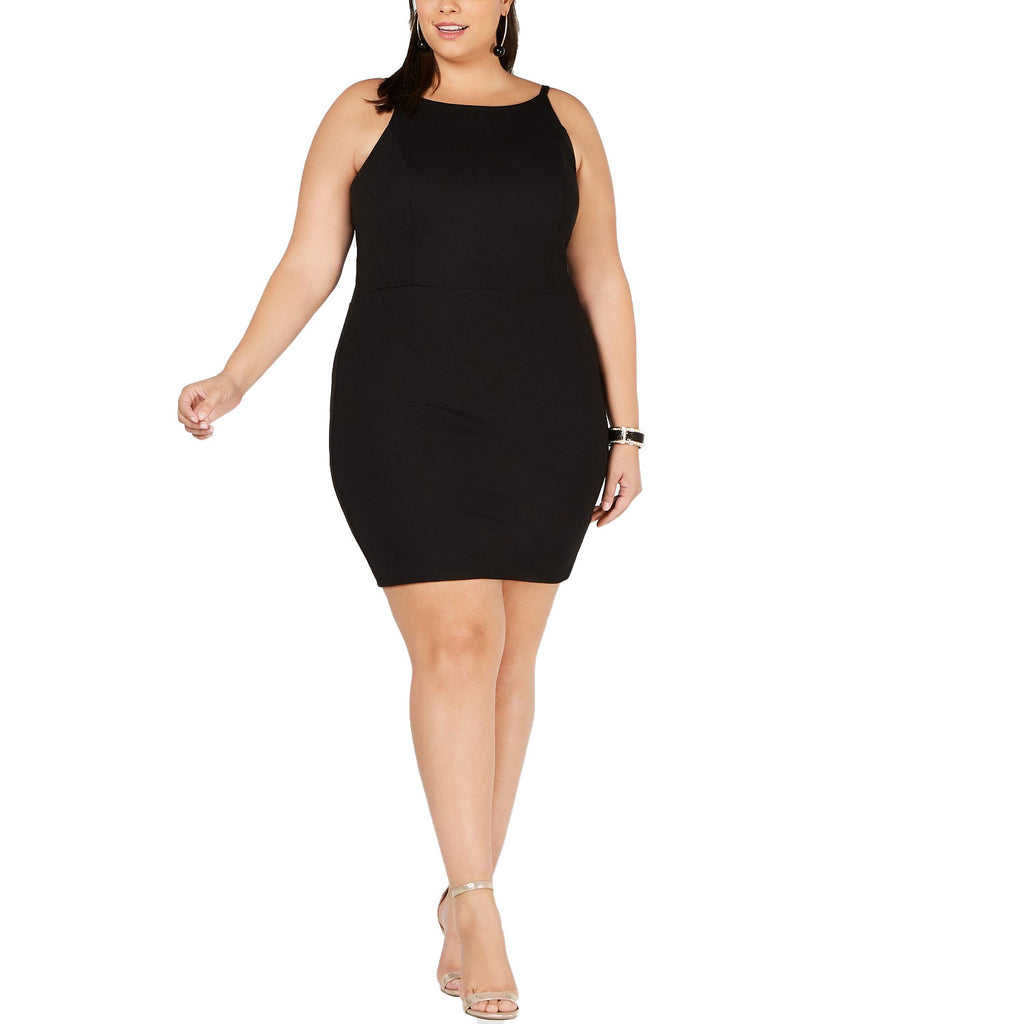 Soprano Black High Neck Bodycon Dress Size 1X Muse Boutique Outlet | Shop Designer Clearance Dresses on Sale | Up to 90% Off Designer Fashion