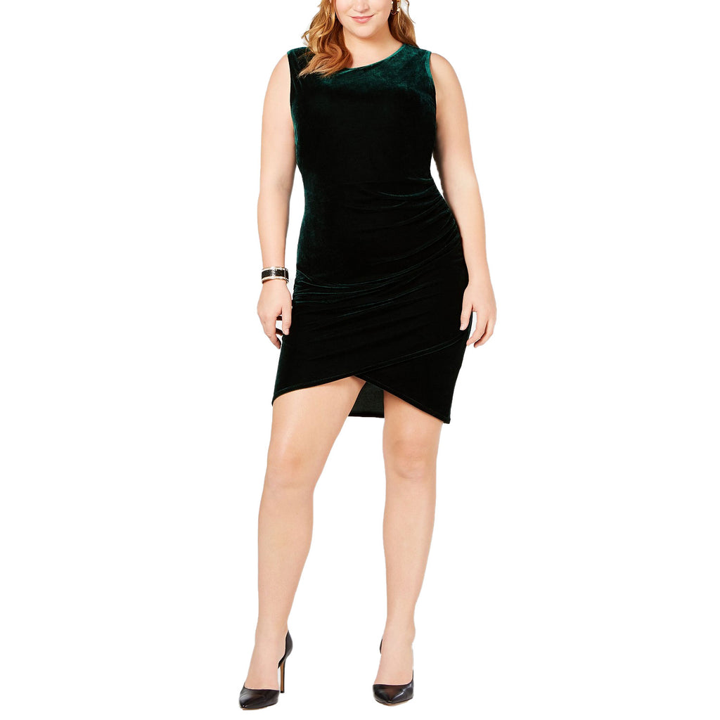 Soprano Green Velvet Bodycon Dress Size 1X Muse Boutique Outlet | Shop Designer Clearance Dresses on Sale | Up to 90% Off Designer Fashion