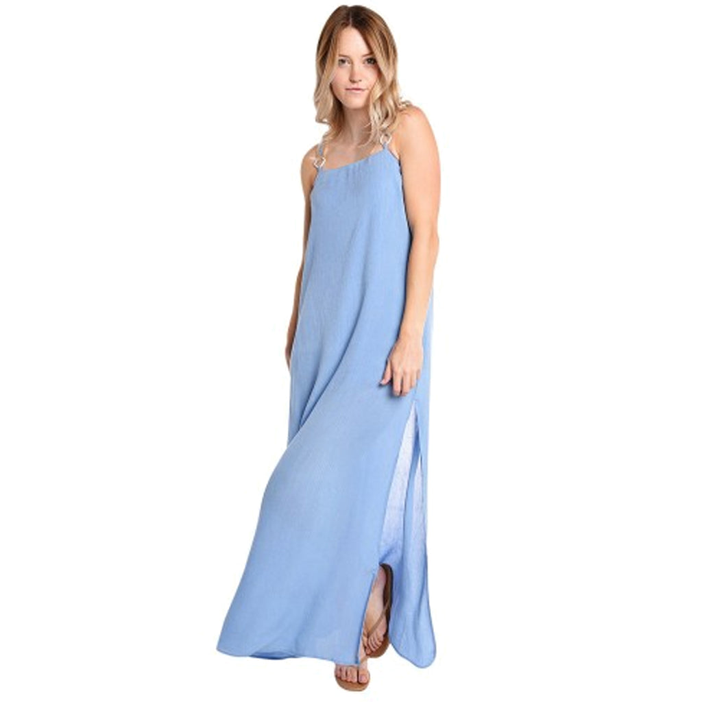 Solid & Striped Sky Blue Calico Maxi Dress Size Extra Small Muse Boutique Outlet | Shop Designer Clearance Dresses on Sale | Up to 90% Off Designer Fashion