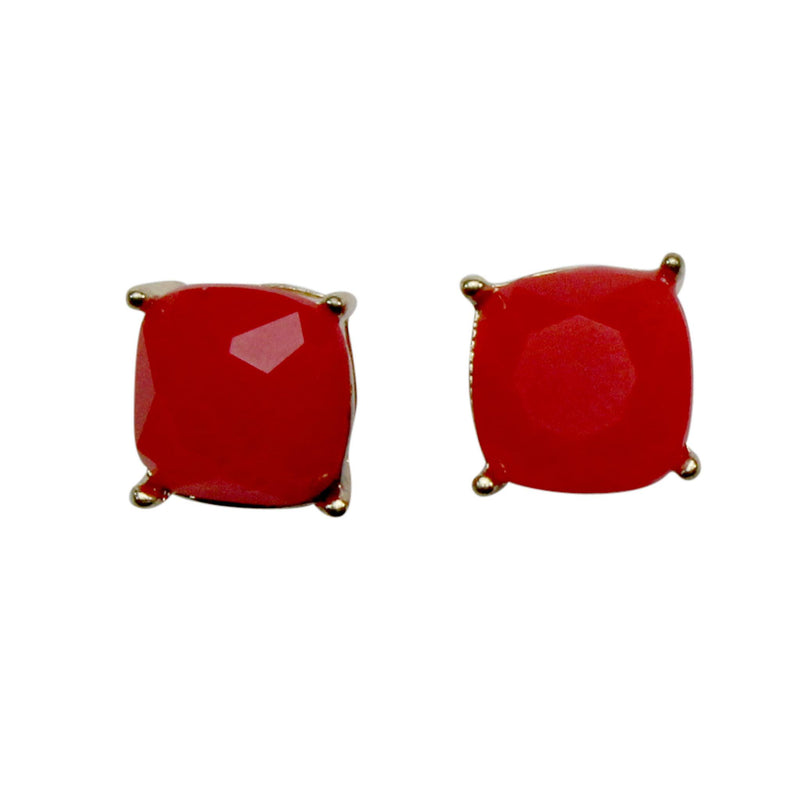 Private Label Red Square Stud Size OSFA Muse Boutique Outlet | Shop Designer Clearance Jewelry on Sale | Up to 90% Off Designer Fashion