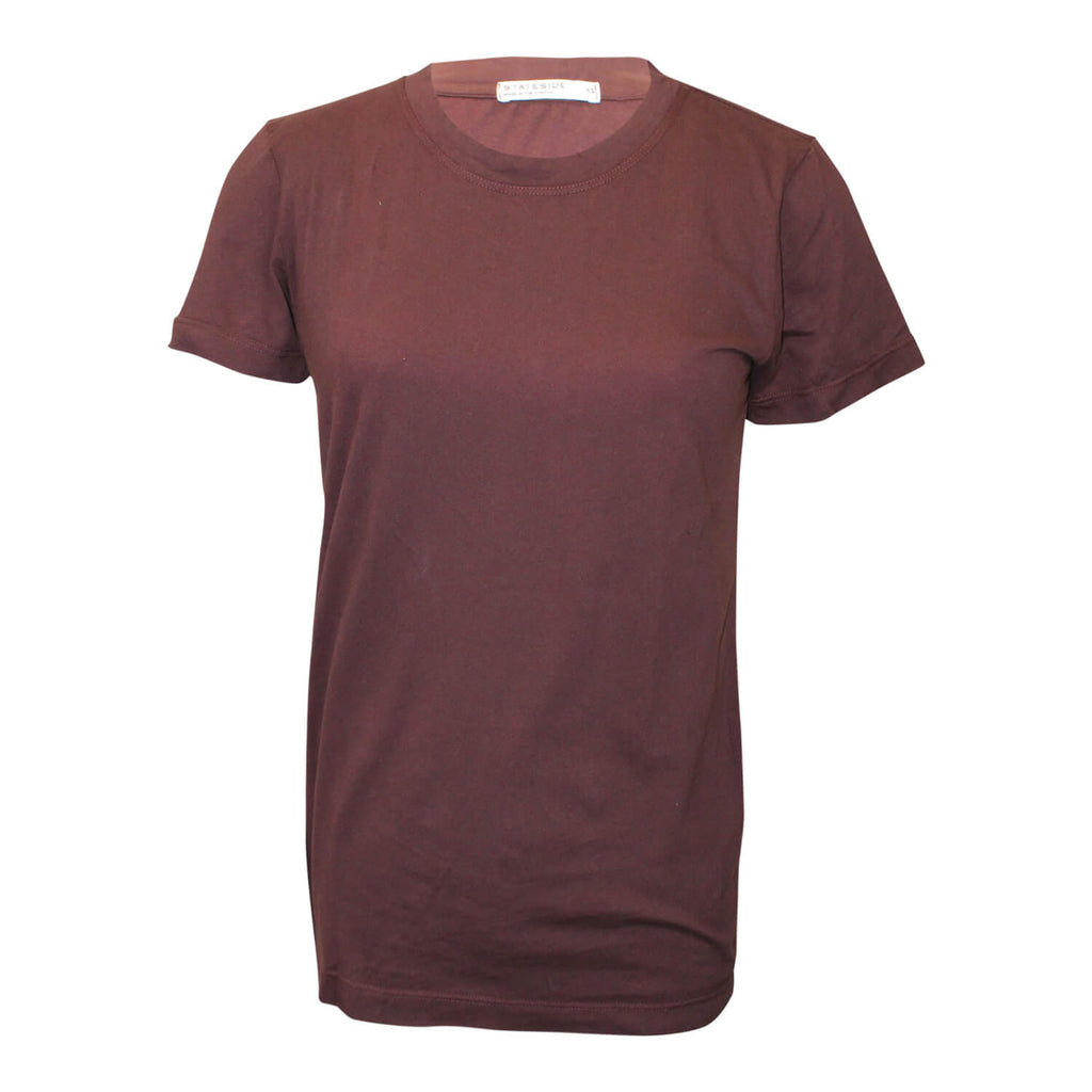 Stateside Brown Brushed Heavy Jersey Crew Neck Tee Size Extra Small Muse Boutique Outlet | Shop Designer Short Sleeve Tops on Sale | Up to 90% Off Designer Fashion