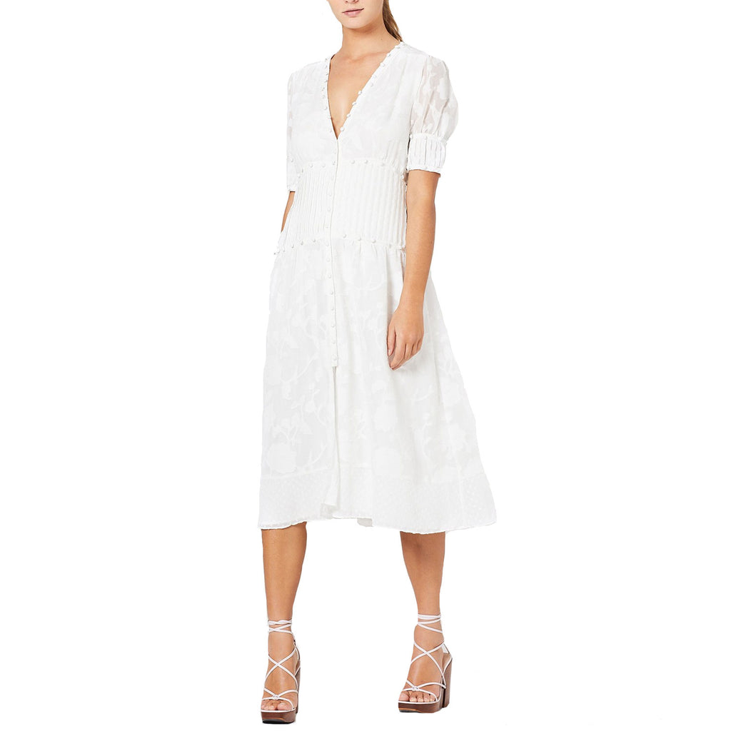 Stevie May White Changer Textured Floral Midi Dress Size Extra small Muse Boutique Outlet | Shop Designer Dresses on Sale | Up to 90% Off Designer Fashion
