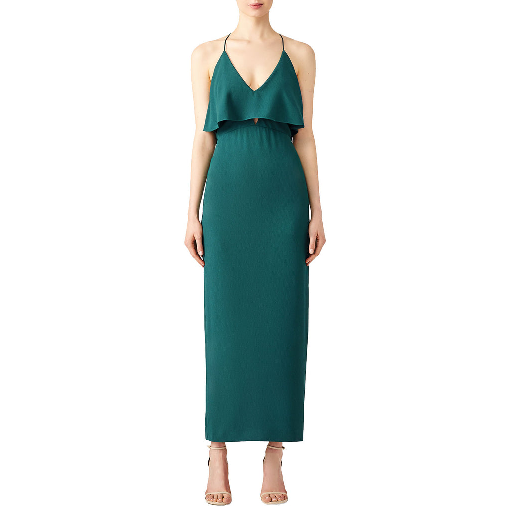 Stylestalker Teal Ruffle Detail Strappy Back Cocktail Dress Size Extra small Muse Boutique Outlet | Shop Designer Dresses on Sale | Up to 90% Off Designer Fashion