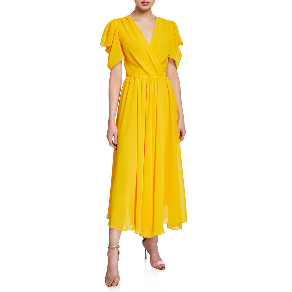 Style Keepers Yellow The Crush Pleated Maxis Dress Size Extra Small Muse Boutique Outlet | Shop Designer Dresses on Sale | Up to 90% Off Designer Fashion