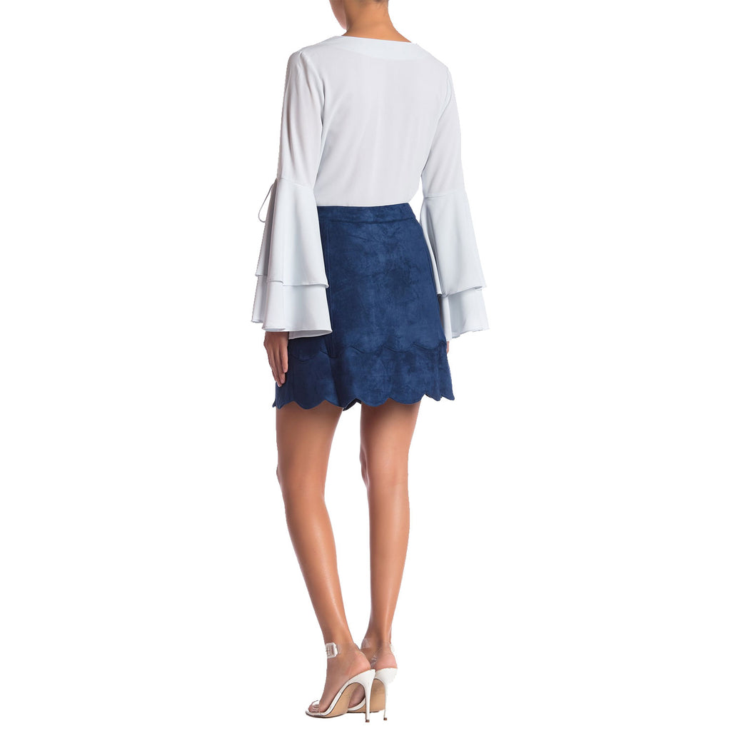 Sugarlips  Button Front Suede SKirt Size  Muse Boutique Outlet | Shop Designer Clearance Skirts on Sale | Up to 90% Off Designer Fashion