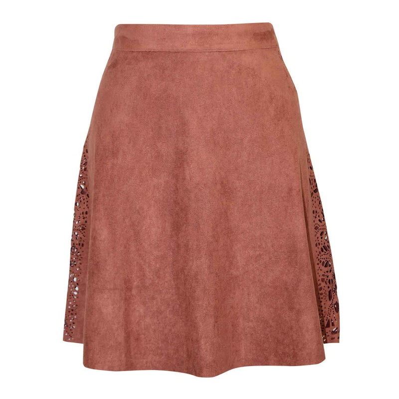 Sugarlips Brown Laser Suede Skirt Size Extra Small Muse Boutique Outlet | Shop Designer Skirts on Sale | Up to 90% Off Designer Fashion
