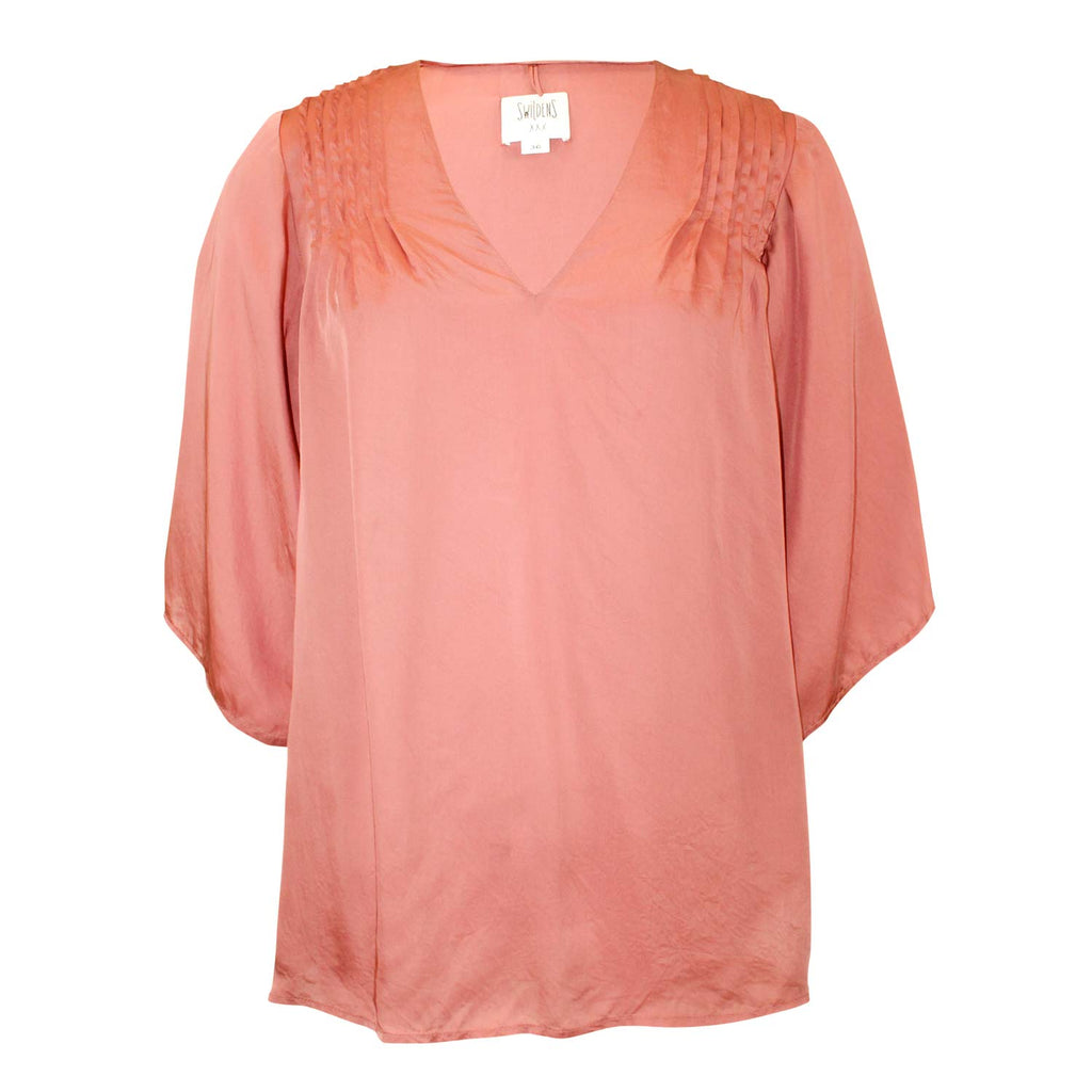Swildens Vieux Rose Soleda Pintuck Blouse Size 36 Muse Boutique Outlet | Shop Designer Blouses on Sale | Up to 90% Off Designer Fashion