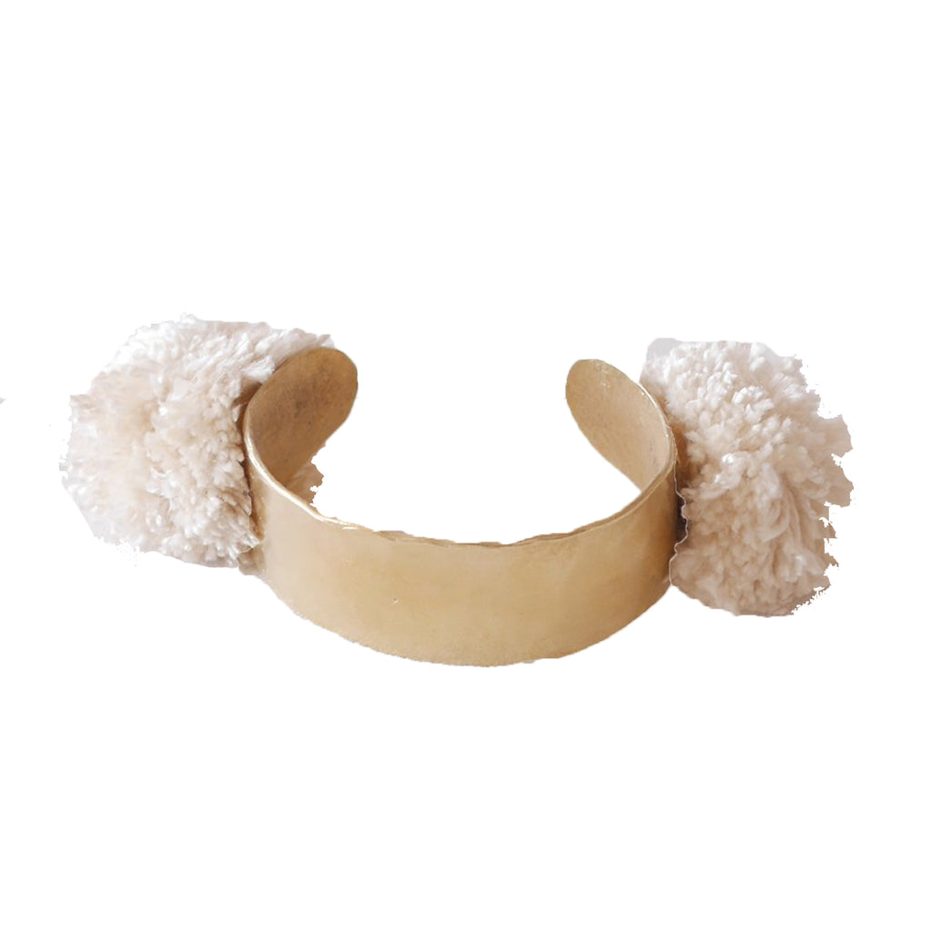 Takara Ivory Pom Pom Bracelet Size OS Muse Boutique Outlet | Shop Designer Bracelets on Sale | Up to 90% Off Designer Fashion