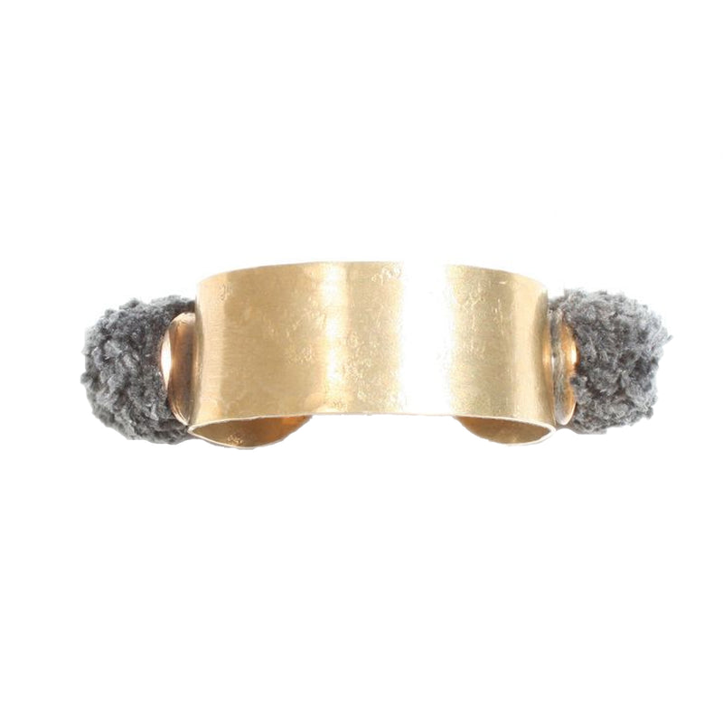 Takara Grey Pom Pom Bracelet Size OS Muse Boutique Outlet | Shop Designer Bracelets on Sale | Up to 90% Off Designer Fashion