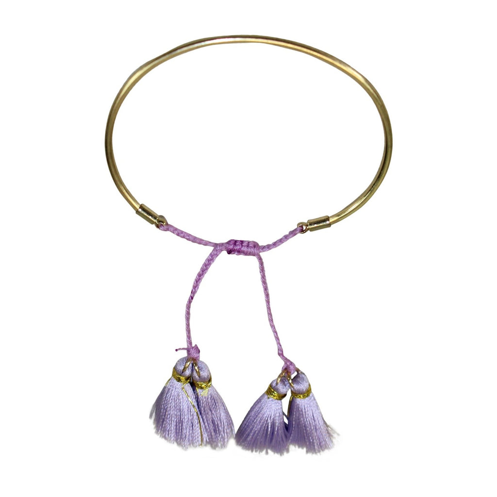 Private Label Purple Tassel Bangle Bracelet Size One size Muse Boutique Outlet | Shop Designer Clearance Jewelry on Sale | Up to 90% Off Designer Fashion