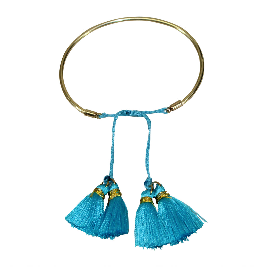 Private Label Blue Tassel Bangle Bracelet Size One size Muse Boutique Outlet | Shop Designer Clearance Jewelry on Sale | Up to 90% Off Designer Fashion