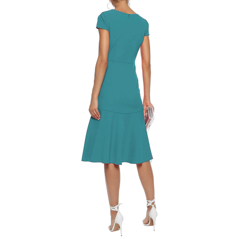 Milly  Bella Fluted Cady Dress Size  Muse Boutique Outlet | Shop Designer Evening/Cocktail on Sale | Up to 90% Off Designer Fashion