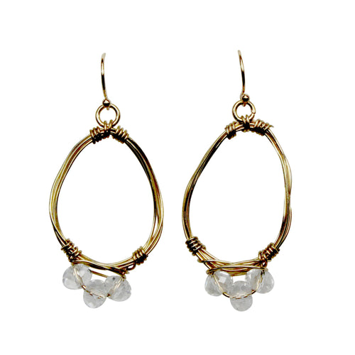 Private Label Teardrop wired earring OSFA Gold Muse Boutique Outlet