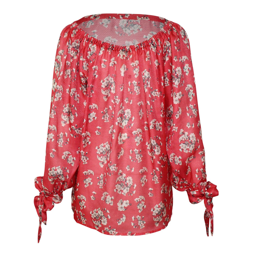 TheKorner  Floral Tie Sleeve Top Size  Muse Boutique Outlet | Shop Designer Clearance Tops on Sale | Up to 90% Off Designer Fashion