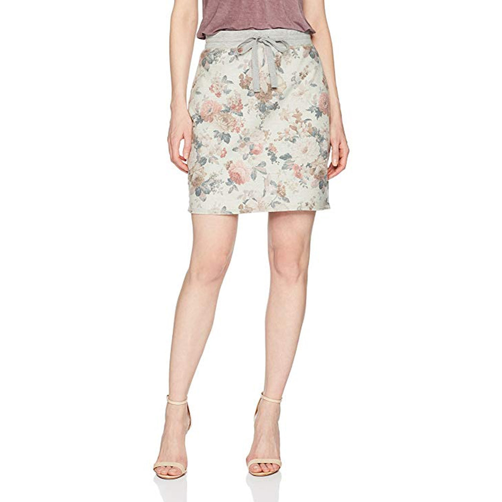 Three Dots Neutral Floral Floral Terry Knit Skirt Size Extra Small Muse Boutique Outlet | Shop Designer Clearance Skirts on Sale | Up to 90% Off Designer Fashion